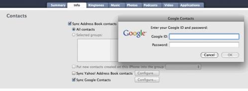 iTunes Contact Migration
