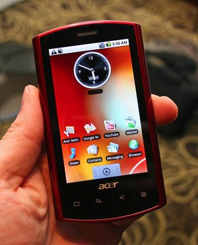 acer liquid a1 gets android 2.1 | talkandroid.com