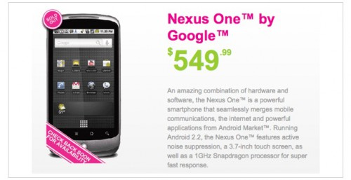 Moblicity Sells Out of Nexus One