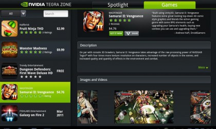 Tegra Zone Screen Shot