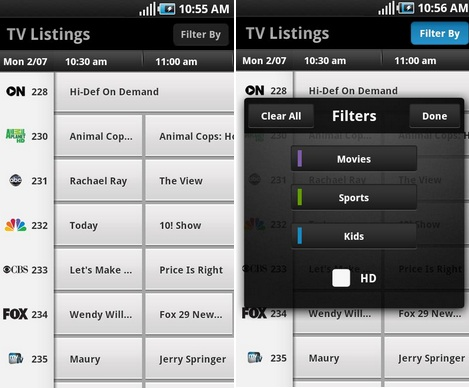 xfinity tv app from comcast hits the android market