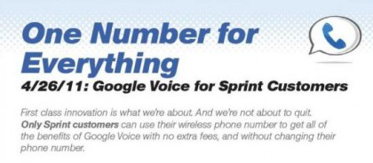 Sprint googlevoice