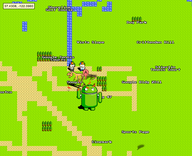 GoogleMaps8BitAprilFools