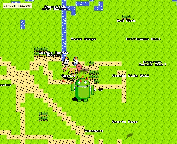 GoogleMaps8BitAprilFools
