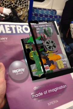 Xperia S Augmented Reality Metro UK