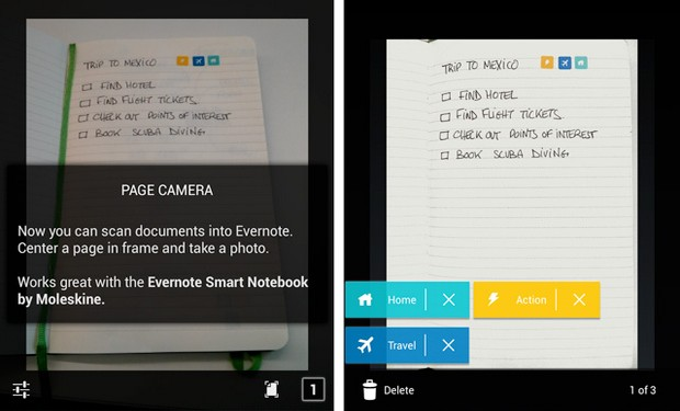 evernote launches version 5 for android: new camera, document search