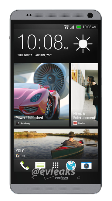 HTC One Max press images for AT&T and Verizon leak