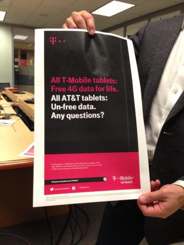 T-mobile tablet data ad