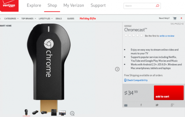 Verizon Chromecast