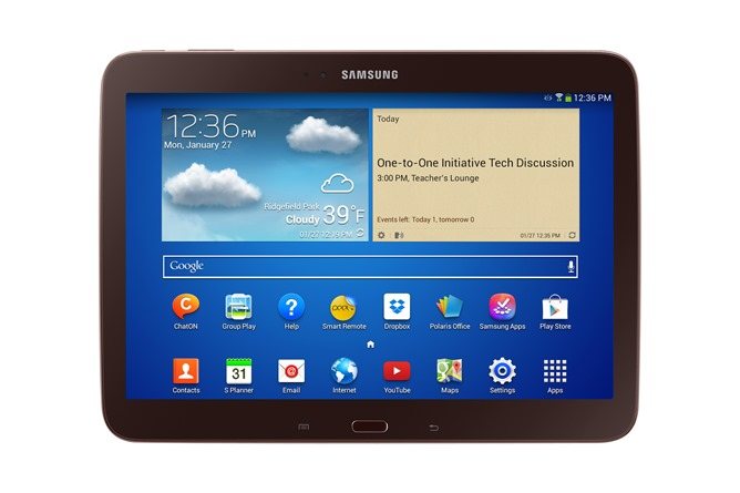 samsung announces galaxy tab for schools preloaded with kitkat