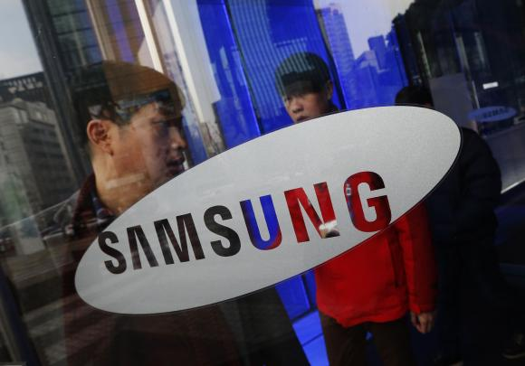 A man walks out of Samsung Electronics' headquarters in Seoul