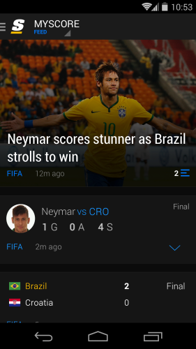 theScore Feed Android