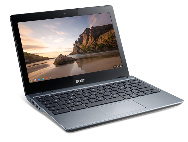 Acer C720 Chromebook front angle left