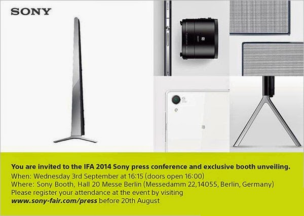 Sony_IFA_2014_Press_Invite