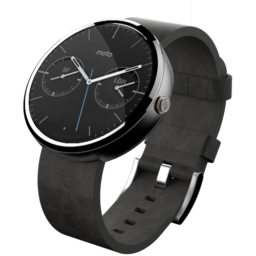 This is what the pre-installed Moto 360 custom watch faces ...