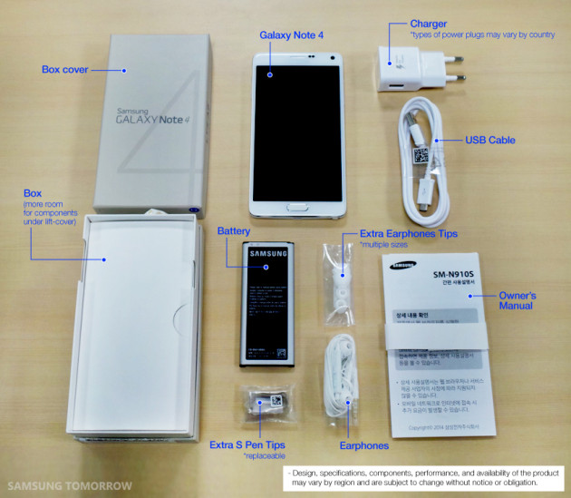 galaxy note 4 unboxing