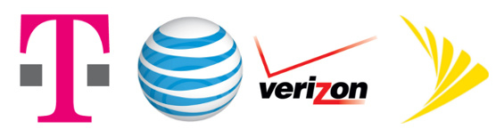 Logos_Verizon_ATT_Tmobile_Sprint_Big_Four