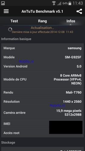 galaxy s 6 benchmark