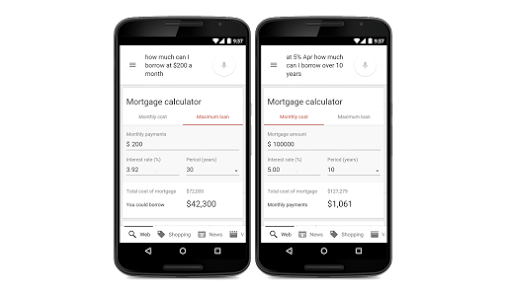 google now mortgage finance