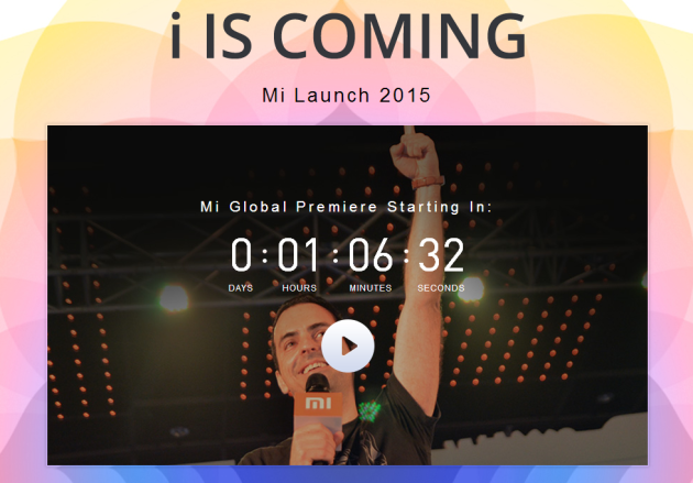 i IS COMING 2015 GLOBAL MI PHONE PREMIERE