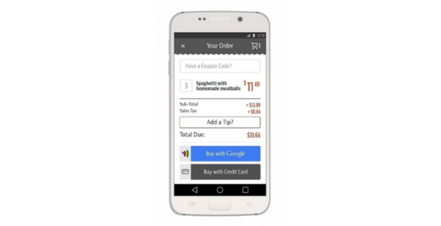 Google Wallet ChowNow