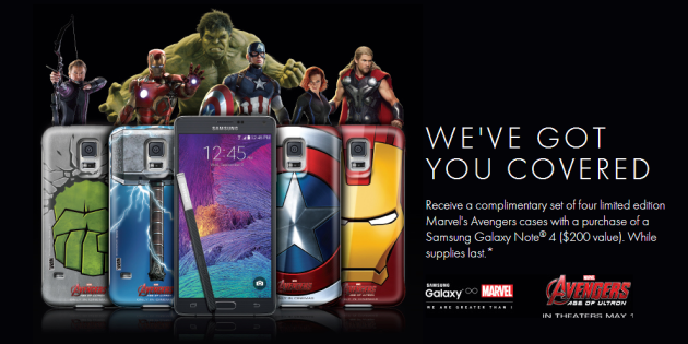 Samsung Avengers Gift With Galaxy Note 4 Purchase