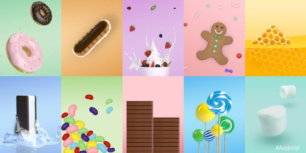 android_donut_eclair_froyo_gingerbread_honeycomb_ice_cream_sandwich_jelly_bean_kitkat_lollipop_marshmallow_collage