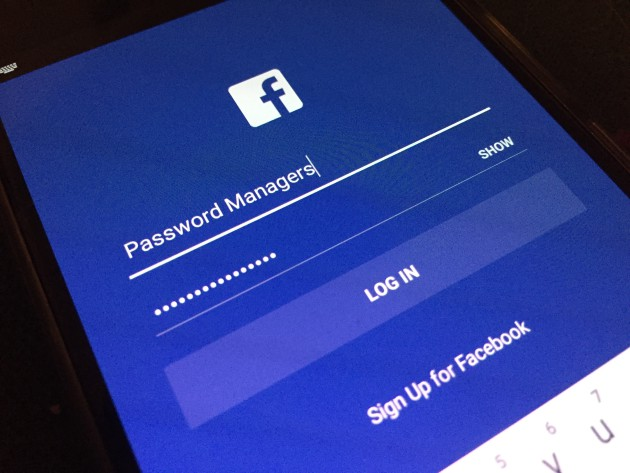 facebook password manager