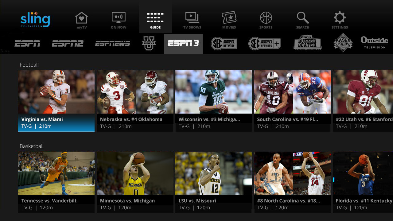 Sling Tv Greets 2016 With New Guide Content From Espn3