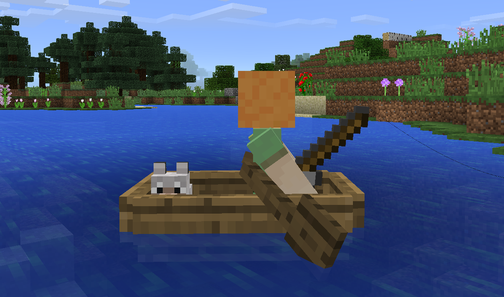 Minecraft heads to the gear vr in 2016 for How to fish in minecraft pe