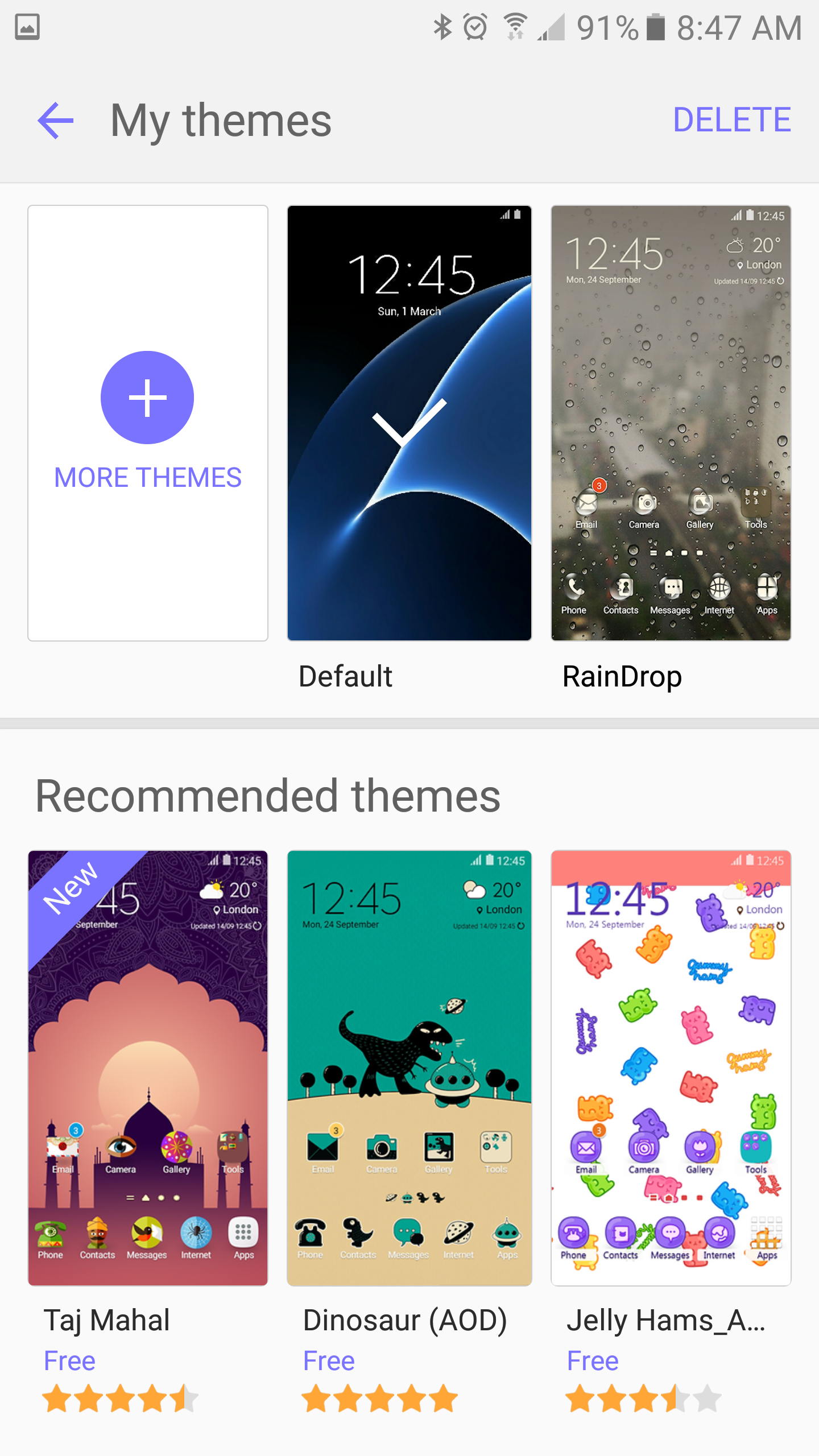 how to download paid themes samsung for free