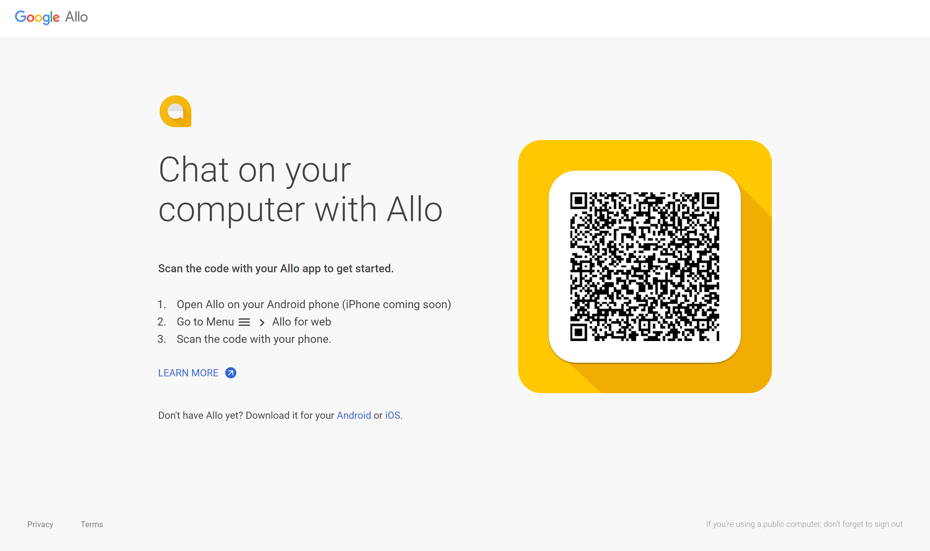Finally, Google Allo for web debuts, but iOS users must wait