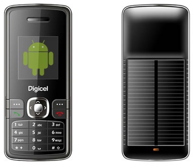 solar power android phone