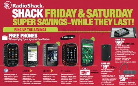 Who doesn't like free phones?! I like free phones! Radio Shack is offering