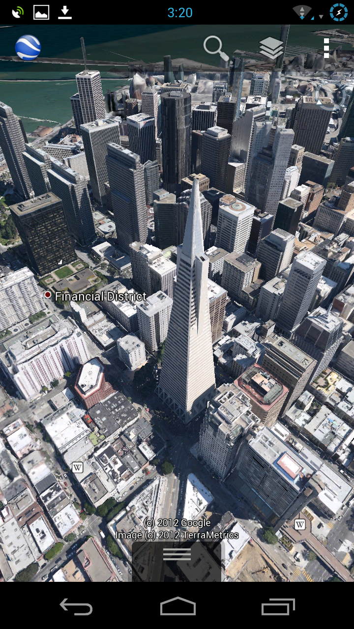 Google Earth for Android Updated, 3D Maps Available for Some