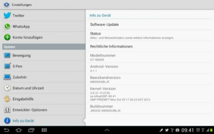 Samsung Galaxy Note 10 1 Beginning To Receive Jelly Bean