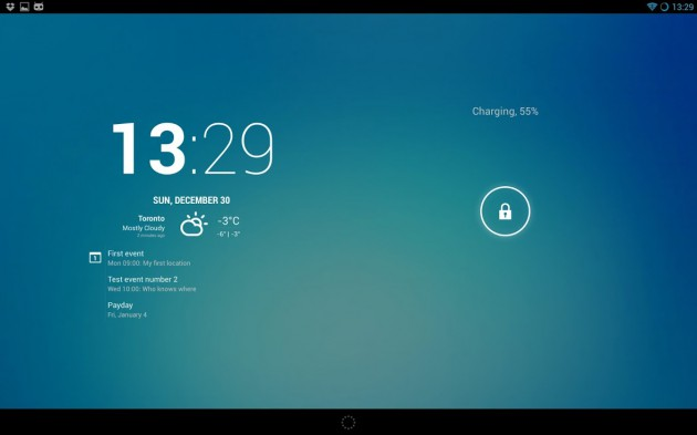 The Crafty Cyanogenmod Team Has Introduced A Brand New Clock Widget For Cm10 1 Roms Today Offering Impressive Weather And Calendar Integration