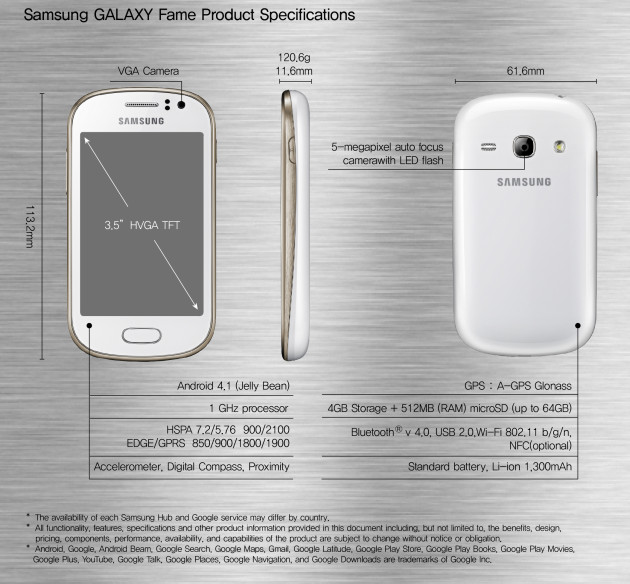 Samsung-GALAXY-Fame-Product-Specifications