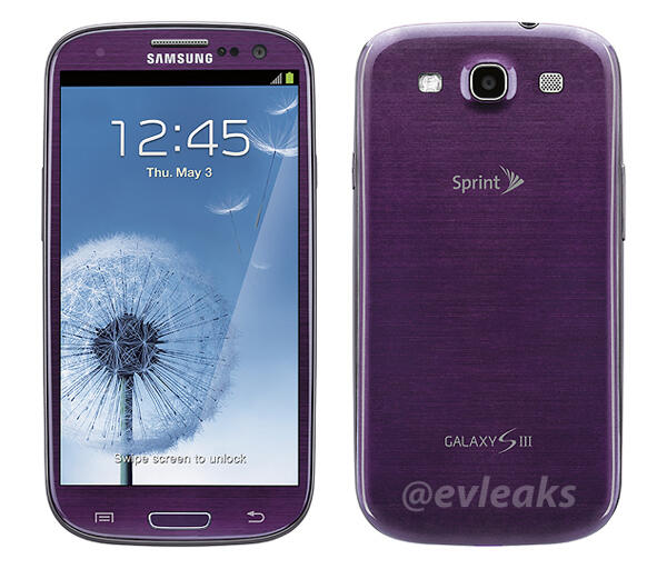 Purple Samsung Galaxy S III coming to Sprint by mid-April ...