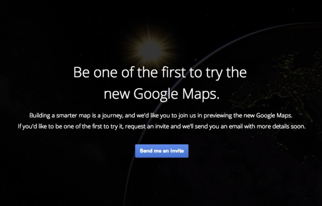 New Google Maps sign-up page goes live for a brief moment and gives us a glimpse of new features in the process