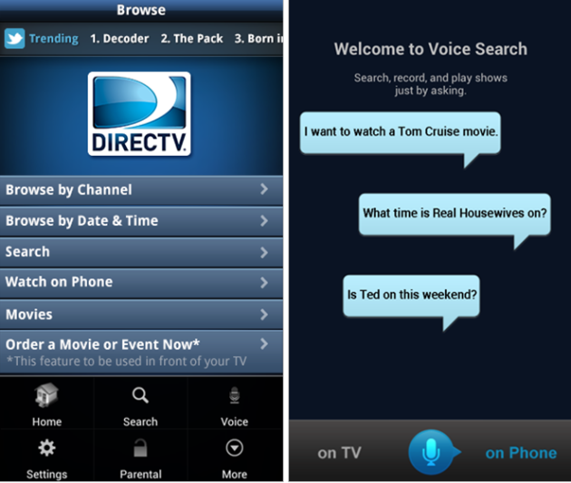 Directv Android App Updated To Version 2 5 Enables Voice Search Talkandroid Com