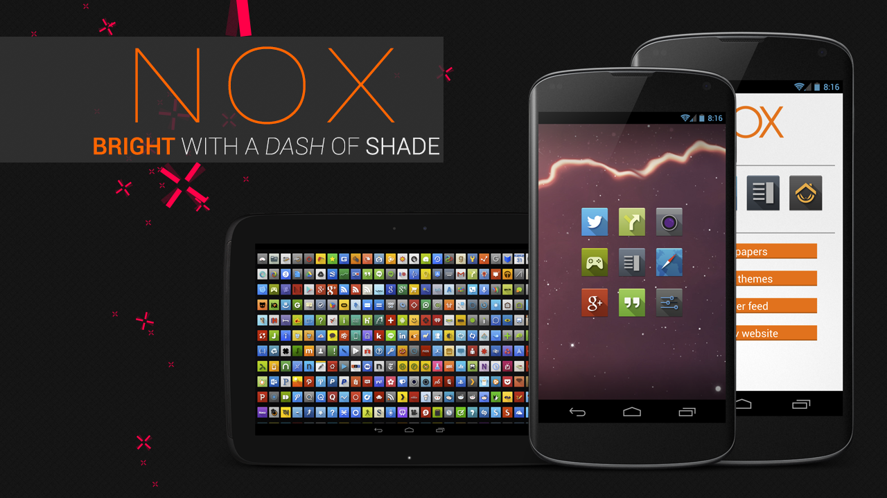 Bored of your icons? Check out kovdev's latest icon pack – NOX!