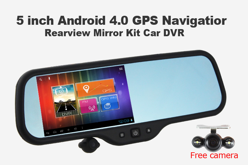 Replace your rear view mirror with this Android version ...