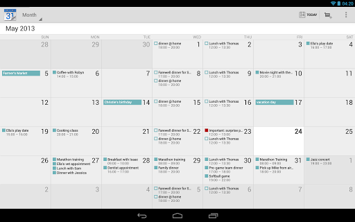 Android Calendar.Best Android Calendar Apps For Phones And Tablets December 2013