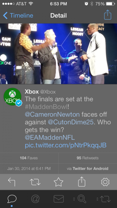 Microsoft Xbox Twitter Android App