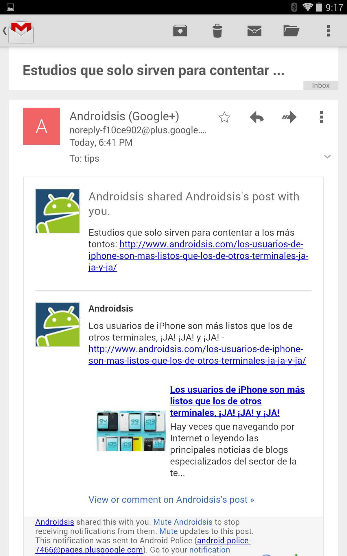 Gmail update hits Google Play with Auto-Show Images feature