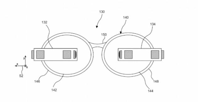 dual google glass patent