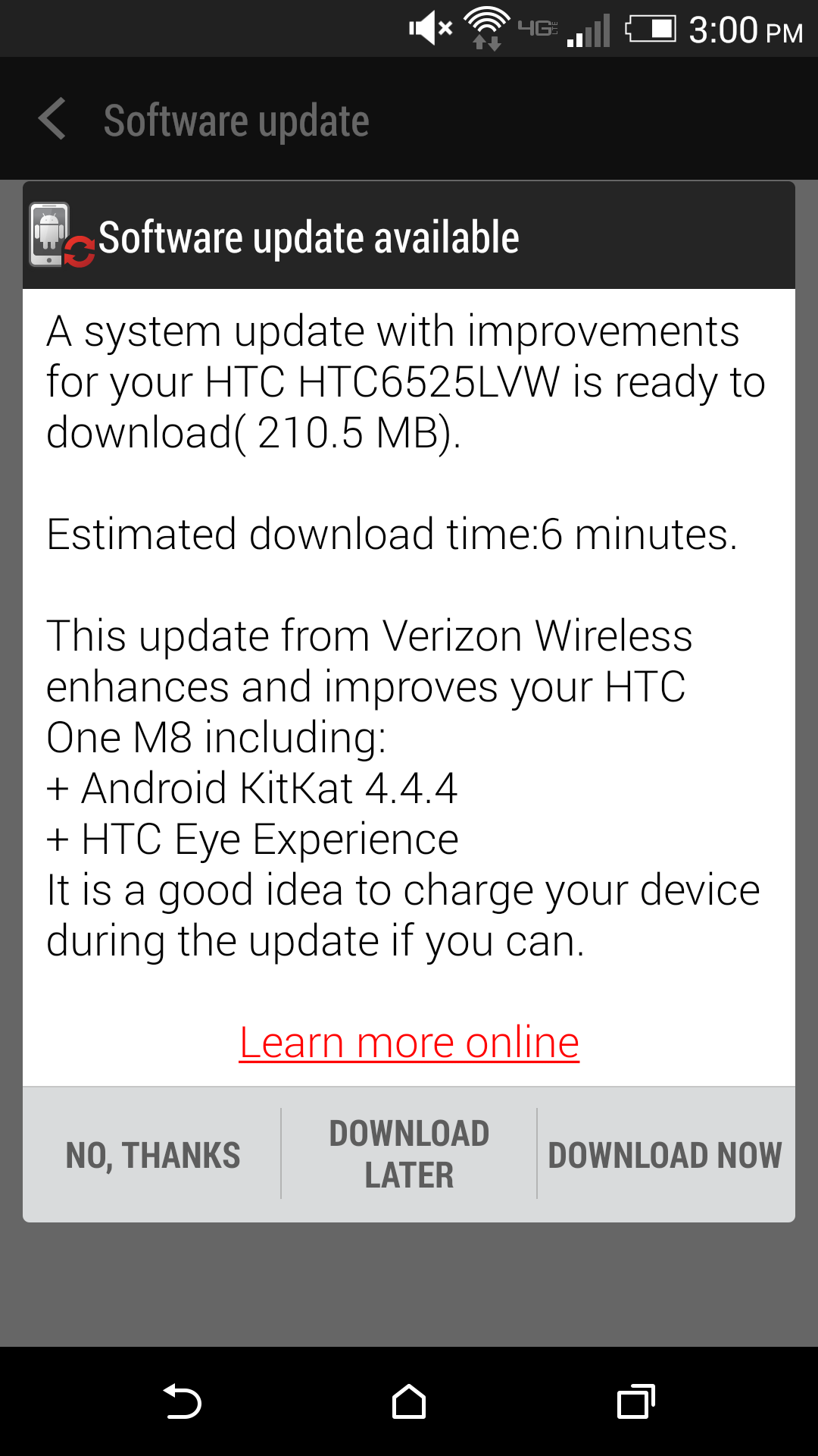 HTC One (M8) for Verizon now receiving software update with