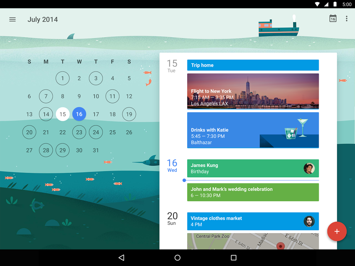 google calendar s update with material design is stunning. Black Bedroom Furniture Sets. Home Design Ideas