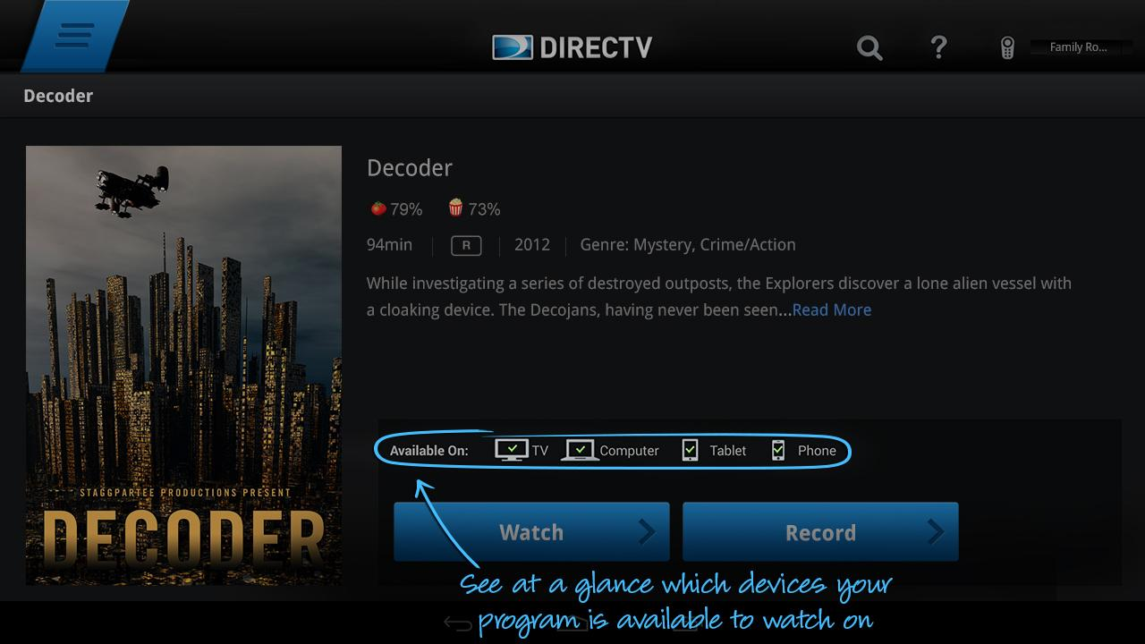 The Android phone and tablet apps for DIRECTV received an update today that  not only brings 13 more live streaming channels to the program, but also  brings ...